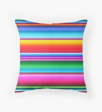 Mexican Poncho Background - Seamless pattern Throw Pillow