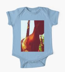 Horse at the Zoo Painting One Piece - Short Sleeve