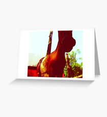 Horse at the Zoo Painting Greeting Card