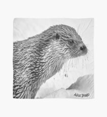 Eurasian Otter in a Snowstorm Scarf