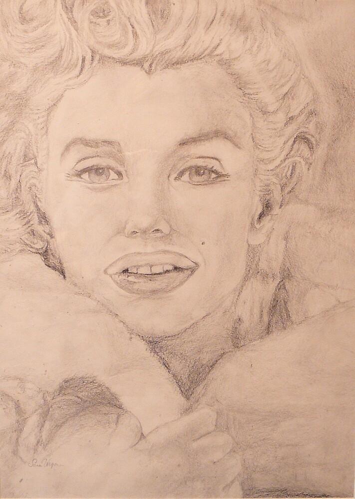 Norma Jean Baker (Pencil) by sara2442