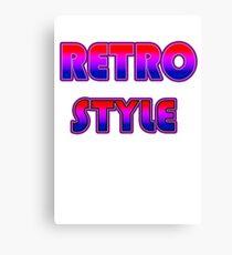 RETRO STYLE Canvas Print