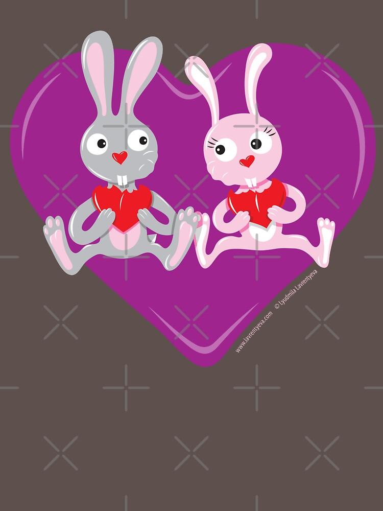 Valentine Rabbits by Lyuda