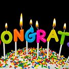 Congrats candle on cake by Maria Dryfhout