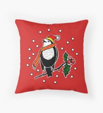 Robbie The Northumberland Robin Throw Pillow