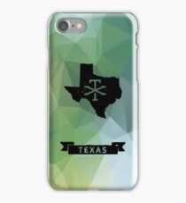 Texas map with geometric background iPhone Case/Skin
