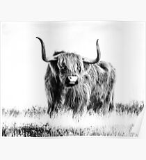 Bull print, Tier, Natur, skandinavischen Druck, skandinavischen, nordischen, trendige drucken, gestylt, skandinavische Kunst, moderne Kunst, Wandkunst, Print, minimalistisch, Modern Poster
