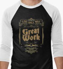 VINTAGE TYPOGRAPHY Men's Baseball ¾ T-Shirt