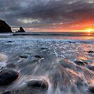 Talisker Bay Rocky Sunset by Grant Glendinning