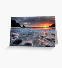 Talisker Bay Rocky Sunset Greeting Card