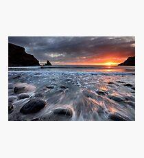 Talisker Bay Rocky Sunset Photographic Print