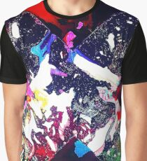 Acrylic Ink Spill & Stencil  Graphic T-Shirt