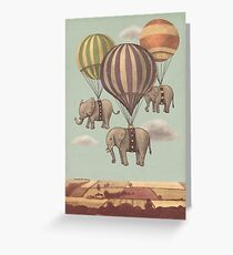 Flight of the Elephants Greeting Card