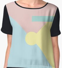 Abstract geometry 01 Chiffon Top