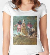 Jean - Antoine Watteau - Detail Of Pilgrimage On The Isle Of Cythera Women's Fitted Scoop T-Shirt
