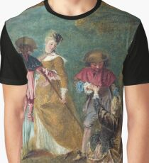 Jean - Antoine Watteau - Detail Of Pilgrimage On The Isle Of Cythera Graphic T-Shirt