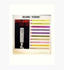 Etta James, Blues, Funk, Soul, lp, Top Ten, Microphone Art Print