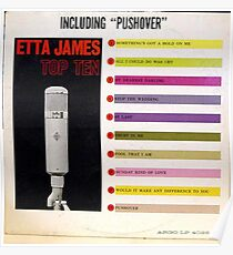 Etta James, Blues, Funk, Soul, lp, Top Ten, Microphone Poster