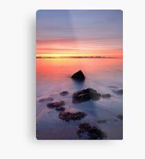 Coastal Sunset Kintyre Metal Print
