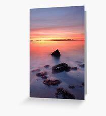 Coastal Sunset Kintyre Greeting Card