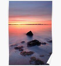 Coastal Sunset Kintyre Poster
