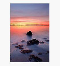 Coastal Sunset Kintyre Photographic Print