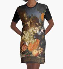 Jan Van Os - Still Life With Fruit 1769 Graphic T-Shirt Dress