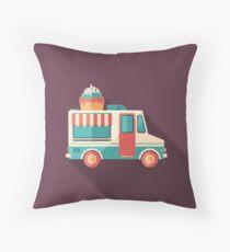 Ice Cream Van Throw Pillow