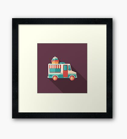 Ice Cream Van Framed Print