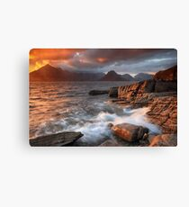 Elgol Stormy Sunset Canvas Print