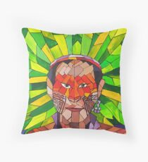 Peuples Précieux - Emeraude  / Precious People - Emerald Throw Pillow