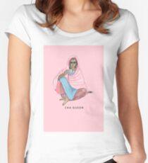 Cha Königin Tailliertes Rundhals-Shirt