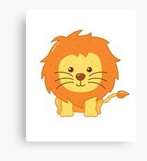 Cute Lion for Kids Canvas Print