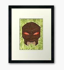 Dead Man's Party - The Ovu Mobani Mask - BtVS Framed Print