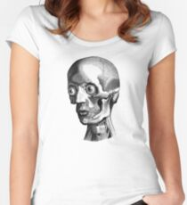 Retro Anatomy Face Horror - yet strangely cute Women's Fitted Scoop T-Shirt