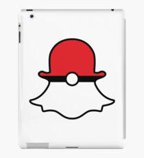 Poké Ball Snapchat Logo iPad Case/Skin