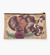 Woman With Flower Studio Pouch