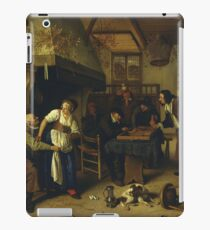 Jan Steen - two Kinds Of Games, 1679 iPad Case/Skin