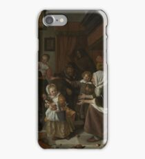 Jan Steen - The Feast Of St Nicholas, 1668 iPhone Case/Skin