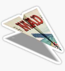 161 MAD Paper Airplane Sticker