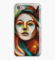 'Art Angel', Grimes portrait by Thom Clark iPhone Case/Skin