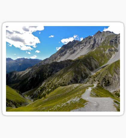 Hiking in the Alps Sticker