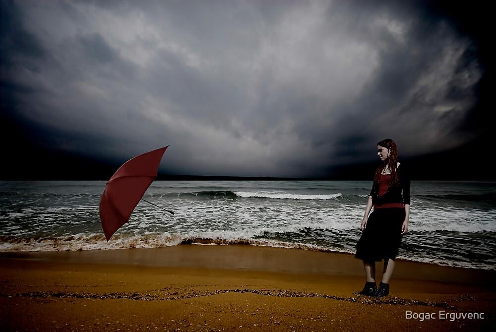 Red Umbrella IV by Bogac Erguvenc
