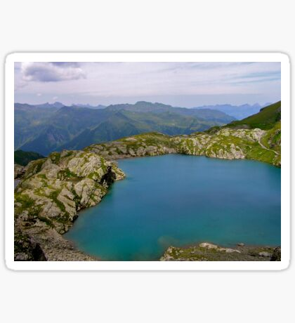 Swiss Mountain Lake Sticker