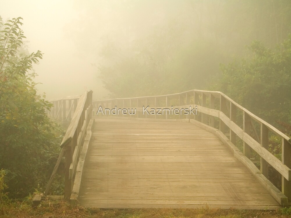 Misty Bridge by andykazie