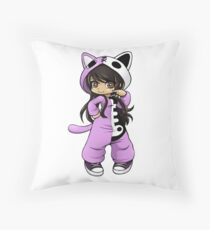 Aphmau As a Cat Throw Pillow
