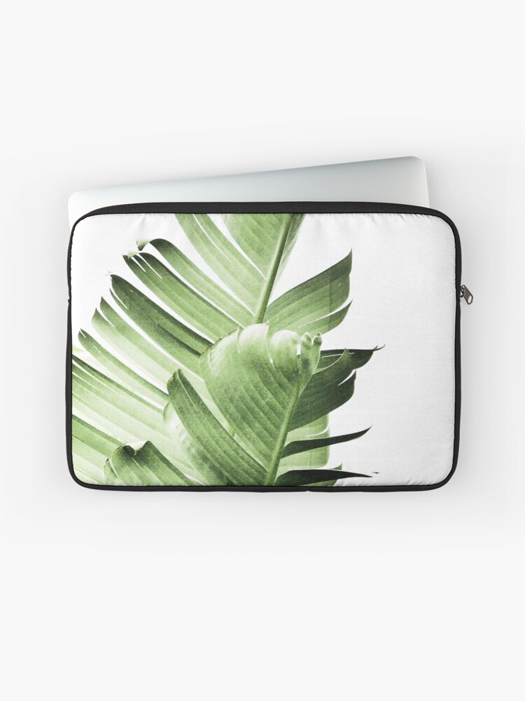 6f8a8d0f8c82 Banana leaves,Tropical leaves, Green leaves, Leaf, Modern art, Wall art,  Print, Minimalistic, Modern, Scandinavian print | Laptop Sleeve