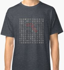 love you crossword puzzle Classic T-Shirt