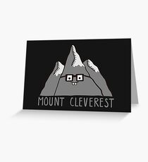Nerd Mount Cleverest Greeting Card