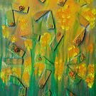 Flowers among reeds by George Hunter